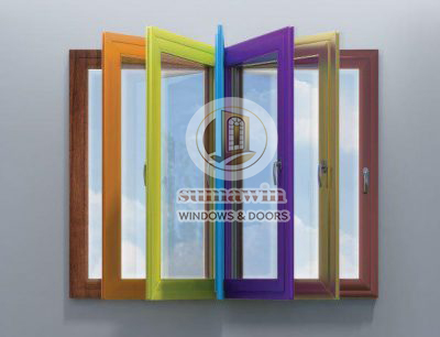 Colored doors and windows