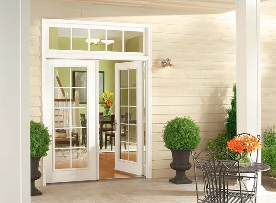 French doors and windows